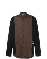 Chemise à manches longues marron Off-White