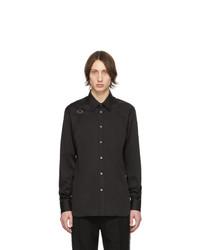 Chemise à manches longues noire Alexander McQueen