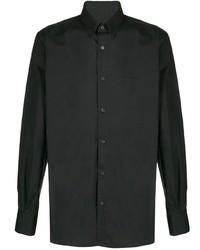 Chemise à manches longues noire Balmain