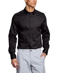 Chemise à manches longues noire Ben Sherman