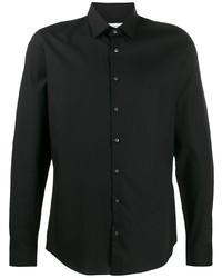 Chemise à manches longues noire Calvin Klein