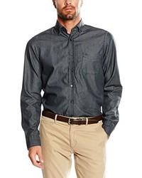 Chemise à manches longues noire Casamoda