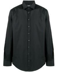 Chemise à manches longues noire DSQUARED2