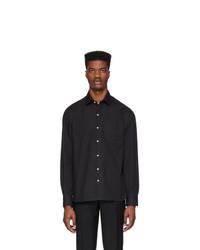 Chemise à manches longues noire Eidos