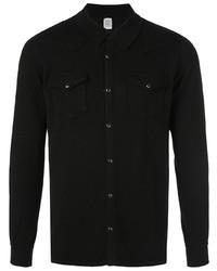 Chemise à manches longues noire Eleventy