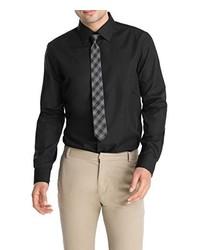 Chemise à manches longues noire Esprit