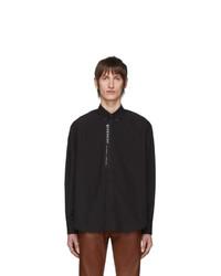 Chemise à manches longues noire Givenchy