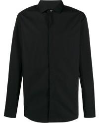 Chemise à manches longues noire Lanvin