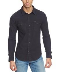Chemise à manches longues noire Lee