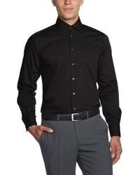 Chemise à manches longues noire Otto Kern
