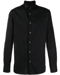 Chemise à manches longues noire Philipp Plein