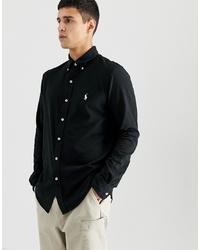 Chemise à manches longues noire Polo Ralph Lauren