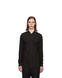 Chemise à manches longues noire Rick Owens
