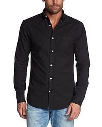 Chemise à manches longues noire Selected