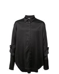 Chemise à manches longues noire Yang Li
