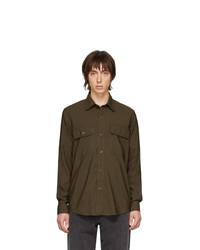 Chemise à manches longues olive AMI Alexandre Mattiussi