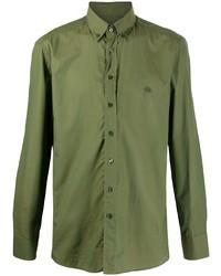 Chemise à manches longues olive Etro