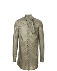 Chemise à manches longues olive Rick Owens