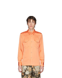 Chemise à manches longues orange Dries Van Noten