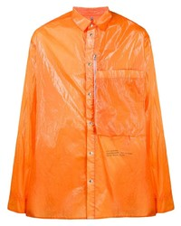 Chemise à manches longues orange Oamc