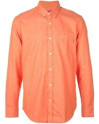 Chemise à manches longues orange Supreme