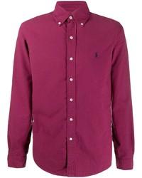 Chemise à manches longues pourpre Polo Ralph Lauren