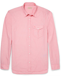 Chemise à manches longues rose Burberry