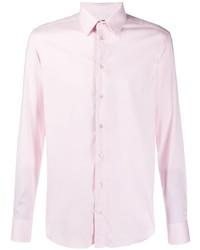 Chemise à manches longues rose Emporio Armani