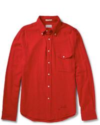 Chemise à manches longues rouge Gant