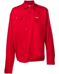 Chemise à manches longues rouge Off-White