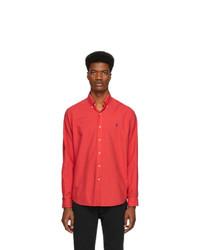 Chemise à manches longues rouge Polo Ralph Lauren
