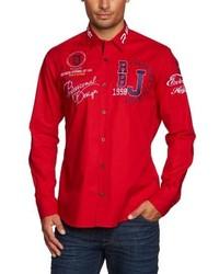 Chemise à manches longues rouge Redbridge