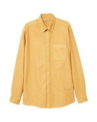 Chemise à manches longues tabac Mango
