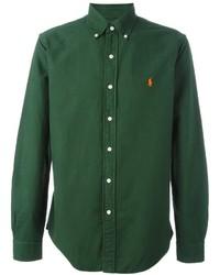 Chemise à manches longues vert foncé