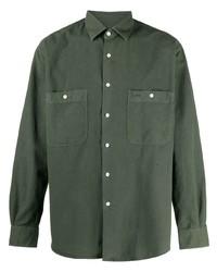 Chemise à manches longues vert foncé Aspesi