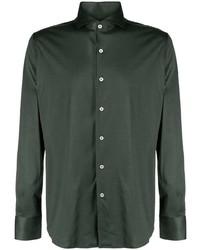 Chemise à manches longues vert foncé Canali