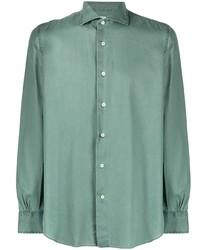 Chemise à manches longues vert foncé Mazzarelli
