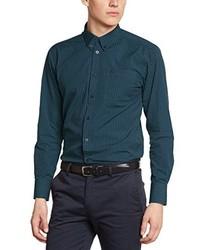 Chemise à manches longues vert foncé Merc of London