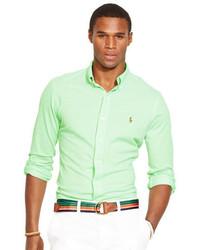 Chemise à manches longues verte