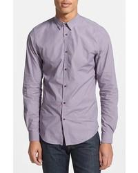 Chemise à manches longues violet clair