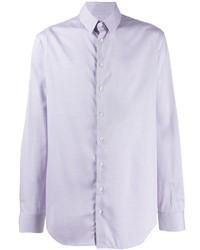 Chemise à manches longues violet clair Giorgio Armani