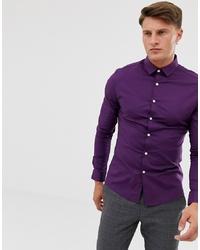 Chemise à manches longues violette ASOS DESIGN