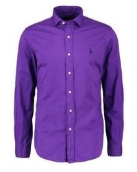 Chemise à manches longues violette Ralph Lauren