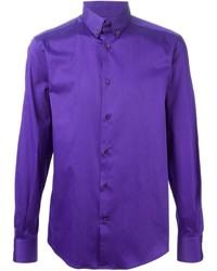 Chemise à manches longues violette Versace
