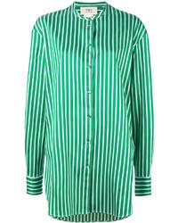 Chemise à rayures horizontales verte Ports 1961