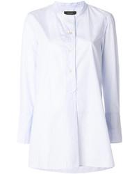 Chemise à rayures verticales bleu clair Isabel Marant