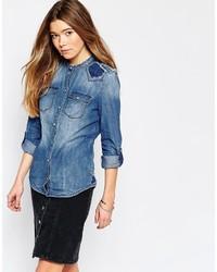 Chemise bleu clair Only