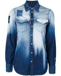 Chemise bleue claire Dsquared2