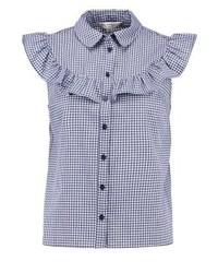 Chemise boutonnée à manches courtes à carreaux multicolore Miss Selfridge