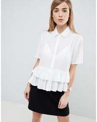 Chemise boutonnée à manches courtes blanche ASOS DESIGN